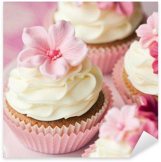 Pixerstick Aufkleber Blume Cupcakes