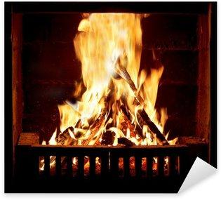 Pixerstick Aufkleber Brennende Feuer im Kamin