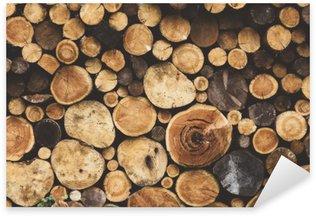 Pixerstick Aufkleber Brennholz Holz Textur