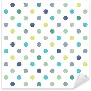 Pixerstick Aufkleber Bunte Tupfen Vektor weißen nahtlosen Hintergrund-Muster