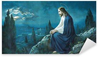 Pixerstick Aufkleber Das Gebet Jesu in Gethsemane Garten.