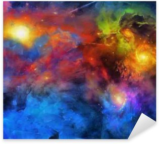 Pixerstick Aufkleber Deep Space Painting