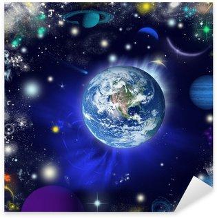 Pixerstick Aufkleber Die Erde im Universum