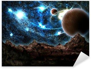 Pixerstick Aufkleber Die verlorene Welt, Planeten, Kosmos