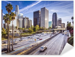 Pixerstick Aufkleber Downtown Los Angeles, Kalifornien, Stadtansicht