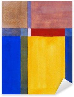 Pixerstick Aufkleber Eine minimalistische abstrakte Malerei