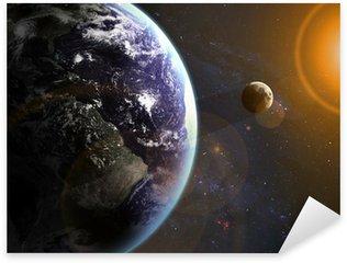 Pixerstick Aufkleber Erde im Raum. Elemente dieses Bildes von der NASA eingerichtet