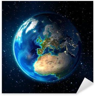 Pixerstick Aufkleber Erde im Raum - Universe Hintergrund - Europa