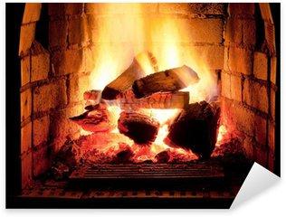 Pixerstick Aufkleber Feuer im Kamin