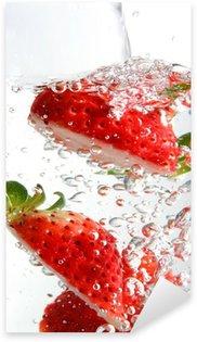 Pixerstick Aufkleber Fizzy Erdbeeren