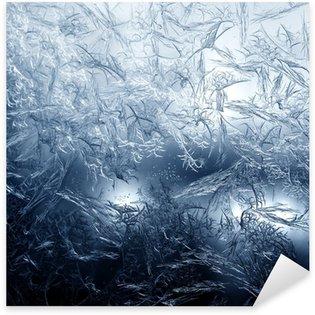 Pixerstick Aufkleber Frosty feines Muster der Natur