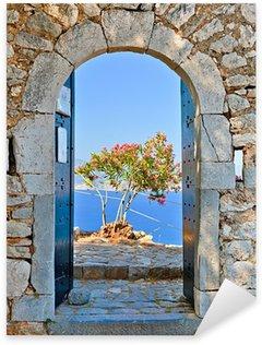 Pixerstick Aufkleber Gate in Palamidi Festung, Nafplio, Griechenland