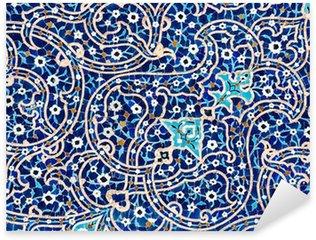 Pixerstick Aufkleber Gekachelten Hintergrund, orientalische Ornamente Moschee von Isfahan, Iran