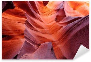Pixerstick Aufkleber Glowing Durchgang in Lower Antelope Canyon