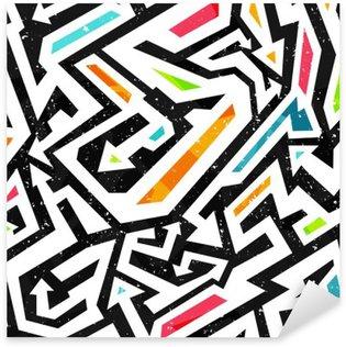 Pixerstick Aufkleber Graffiti nahtlose Muster