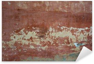 Pixerstick Aufkleber Grob strukturiertem Hintergrund roten alten Betonmauer mit Flecken, trockene
