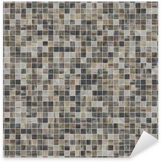 Pixerstick Aufkleber Große quadratische nahtlose Textur von Mosaikfliesen 07
