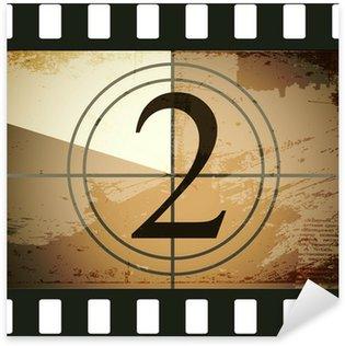 Pixerstick Aufkleber Grunge film countdown
