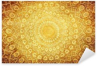 Pixerstick Aufkleber Grunge Hintergrund mit orientalischen Ornamenten.