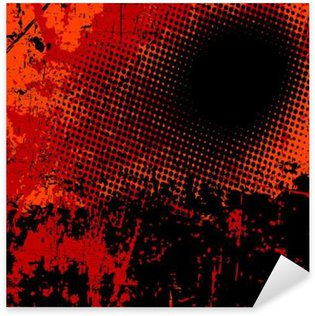 Pixerstick Aufkleber Grunge-Vektor-Hintergrund in schwarz und orange