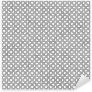 Pixerstick Aufkleber Hellgrau und Weiß Kleine Tupfen-Muster Wiederholen Hintergrund
