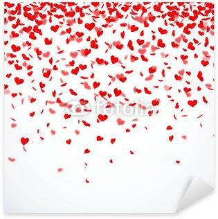 Pixerstick Aufkleber Herzkonfettiregen