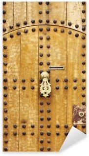 Pixerstick Aufkleber Holztür mit Türknauf arabischen Stil