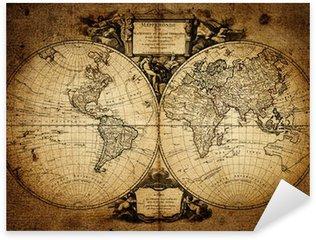 Pixerstick Aufkleber Karte der Welt 1752