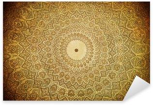 Pixerstick Aufkleber Kuppel der Moschee, orientalische Ornamente aus Samarkand, Uzbekista