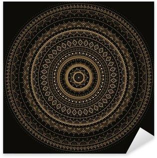 Pixerstick Aufkleber Mandala. Indian dekorativen Muster.
