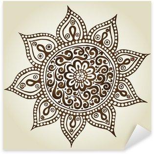 Pixerstick Aufkleber Mandala. Runde Ornament-Muster. Zierblumen.