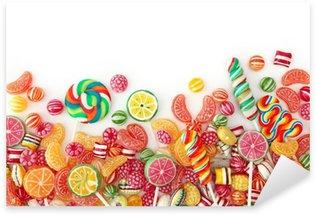 Pixerstick Aufkleber Mixed bunten Obst bonbon hautnah