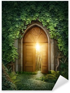 Pixerstick Aufkleber Mysteriösen Eingang