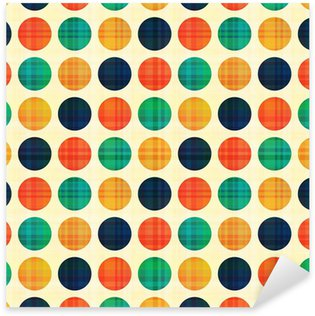 Pixerstick Aufkleber Nahtlose abstrakte Polkapunktmuster