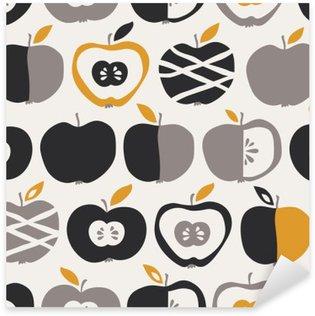 Pixerstick Aufkleber Nahtlose Muster mit Äpfeln