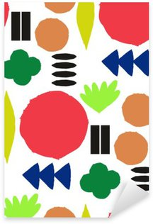 Pixerstick Aufkleber Nahtlose Muster mit grafischen geometrischen Elementen