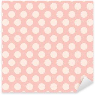 Pixerstick Aufkleber Nahtlose Polka Dots Grunge-Textur