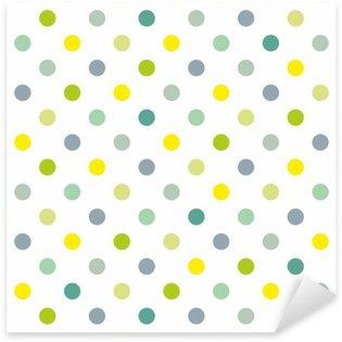 Pixerstick Aufkleber Nahtlose Vektor-Muster Frühling blauen Tupfen weißem Hintergrund