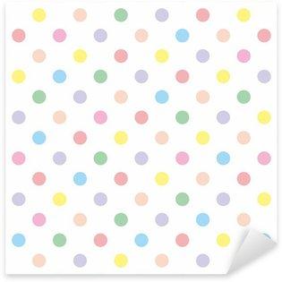Pixerstick Aufkleber Nahtlose Vektor-Muster Hintergrund Pastell bunten Tupfen