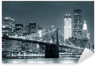 Pixerstick Aufkleber New York City, Brooklyn Bridge