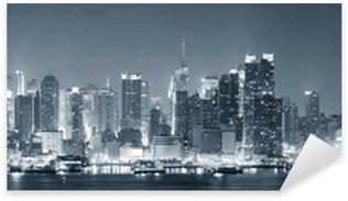 Pixerstick Aufkleber New York City Manhattan schwarz und weiß