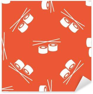 Pixerstick Aufkleber Orange Sushi-Muster