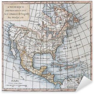 Pixerstick Aufkleber Original antike Nordamerika-Karte