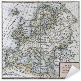 Pixerstick Aufkleber Original antiken Europa Karte