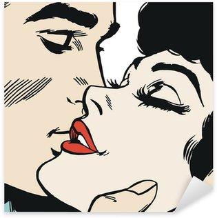 Pixerstick Aufkleber Paar in der Liebe