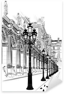 Pixerstick Aufkleber Paris: Klassische Architektur