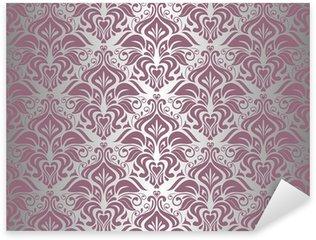Pixerstick Aufkleber Pink & Silver Vintage Tapete