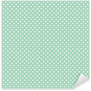 Pixerstick Aufkleber Polka Dots auf frischer Minze Hintergrund nahtlose Vektor-Muster