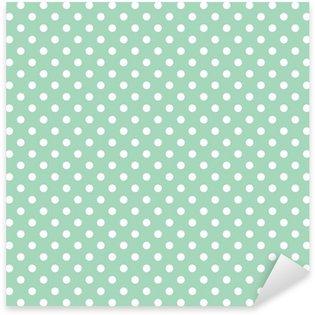 Pixerstick Aufkleber Polka Dots auf Minze Hintergrund retro nahtlose Vektor-Muster