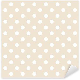 Pixerstick Aufkleber Polka Dots auf neutralem Hintergrund retro nahtlose Vektor-Muster